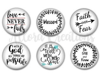 Inspirational Magnets, Inspirational Pinback Buttons, Magnets or Pinbacks, Set 1