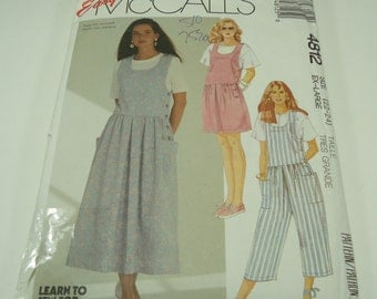 Easy McCall's Misses' Jumper, Jumpsuit Or Romper Pattern 4812 Size 22 - 24