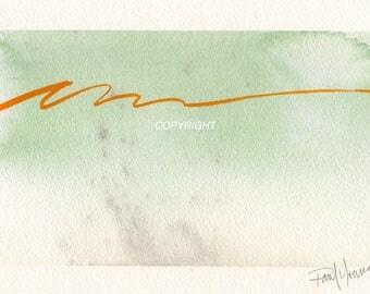 Original abstract watercolor painting 2
