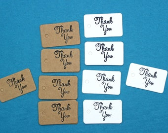 Hang Tag, Small White or Kraft Brown Thank You Hang Tags, Wedding Favor Tag, Price Tag, Small Hang Tag, Party Favor Tag, Scrapbooking