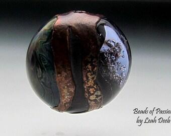 Glass Beads of Passion Leah Deeb Lampwork - OOAK Eformed Tab Focal
