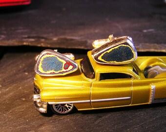 Stunning Solid Silver Fordite Cufflinks
