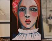 Portrait of True - Original Painting on Wood Block