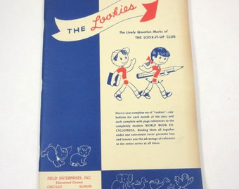 The Lookies Vintage 1940s or 1950s Educational Children's School Work Book