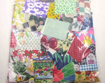 Huge Bag of Assorted Fabric Scraps Pieces or Material Lot H
