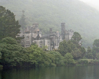 Irish Photography, Kylemore Abbey, St Patricks Day, Galway Ireland, Art Print, Landscape Photo, Connemara Decor, Old Ireland, Wall Decor