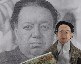 Diego Rivera Doll Miniature Hispanic Artist Painter