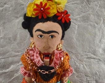 "Frida Kahlo Nutcracker 10"" Size Limited Edition One of a Kind Unique Handmade Art"