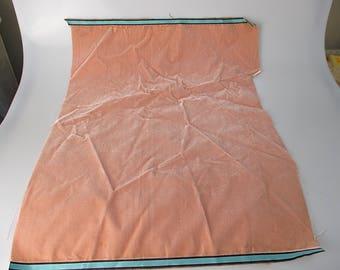 Antique velvet fabric France Victorian cotton silk Light pink