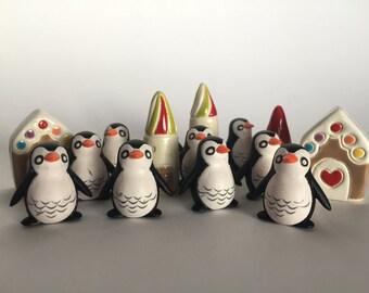 Large Penguin Terrarium Prop Party Favor Art Embellishment