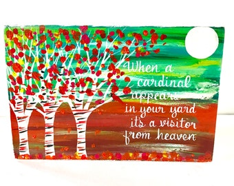 Visitor from Heaven Birch Tree Art OOAK