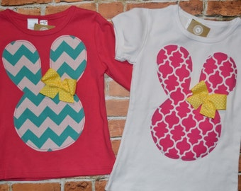 "Girls EAsTER ""SPRING CHICKENS"" collection BUNnY RABbIT  TEe made to order in  sizes  6 - 9 - 12 -18 -24 mth -2 -3 -4 -5 - 6 - 7 - 8 - 10"