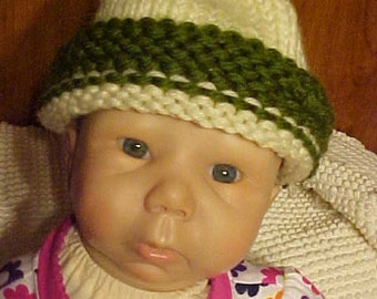 Now on Sale~~Knit cap~INFANT~BABY~Small CHILD'S Hand Knit Cap~Keep Him/Her Nice & Warm with this Hand Knit Winter Cap~Adorable!