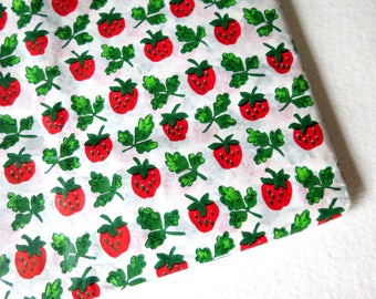 Vintage Strawberry Gift Tissue Wrap Novelty Tissue Paper 1980s Strawberries Wrapping Paper