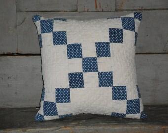 9 Patch Quilt Pillow | Vintage Quilt Pillow | Antique Quilt Pillow | Old Quilt Pillow |  Listing Is For 1 Pillow