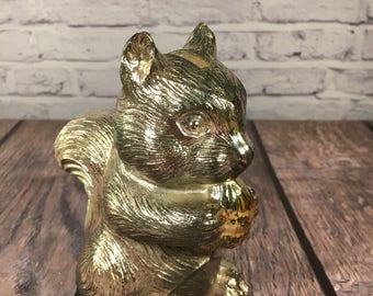 Silver Squirrel Bank - Small Figurine