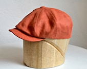 Men's Linen Newsboy Cap - Men's Newsboy Hat - Linen Cap