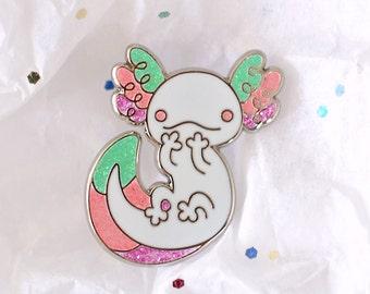 Axolotl Enamel Lapel Pin ~ Fairy Kei (SECONDS SALE)
