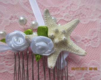 Beach Wedding, Small  Comb, Flower Girl,  Easy to use, Attach Curls, Event