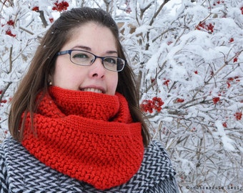 CROCHET PATTERN (PDF) - Textured Cowl