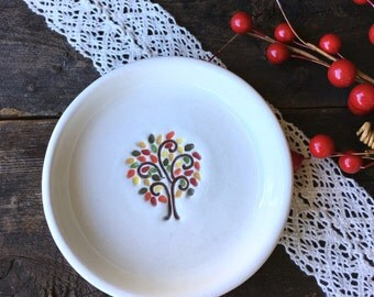 CLEARANCE - Ceramic Ring Dish - Ring Dish - Trinket Dish - Decorative Bowl - Jewelry Holder - Autumn Colors - Ready to Ship