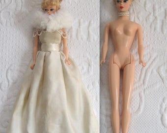 vintage barbie . mattel barbie . 1958 reproduction made in 1993