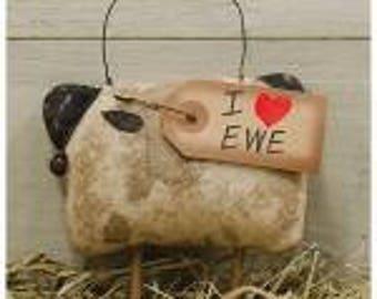 I Love Ewe Sheep Ornament