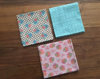 SET of 3 Pieces Japanese Import Cotton Fabric - Various Sizes