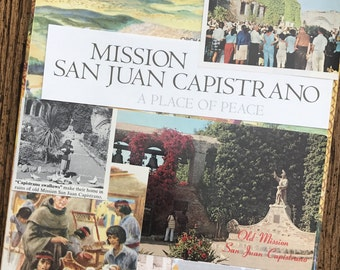 Let's Travel to San Jaun Capistrano Vintage California Mission Collage, Scrapbook and Planner Kit Number 2385