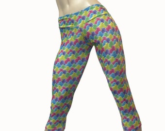 Yoga Pants - Workout Clothes - Hot Yoga - Fitness - Candy - Peeps - Low Rise - Capri - SXY Fitness - Handmade - USA -