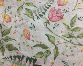 1 7/8 yard of lovely floral cotton fabric