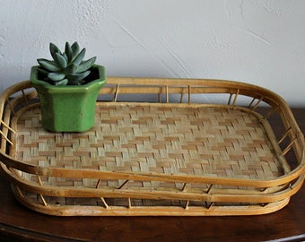 Bamboo tray, individual tray, natural kitchen decor