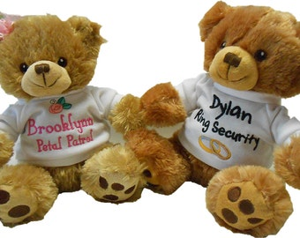 Personalized Petal Patrol/Ring Security bears (sold separately)
