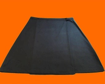 90s club monaco, mini skirt from the 90s, minimalist black skirt, A line skirt