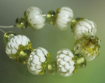 Frog Set - Handmade Lampwork Beads (SRA)