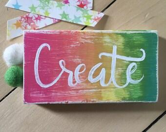 Create  wood sign