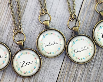 Custom Name Necklace, Personalized Name Jewelry, Mothers Necklace, Gift for Mom, Kids Name Necklace, Bridesmaid Gift Ideas