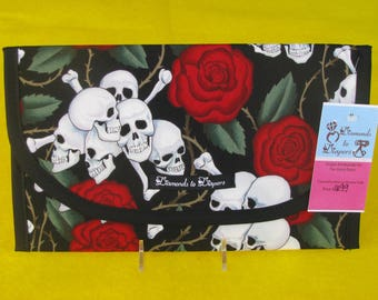 Skulls Diaper and Wipes Case Holder Clutch