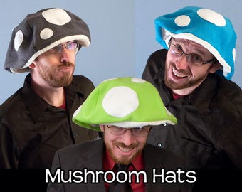 Mushroom Cap Floppy Hats Many Colors