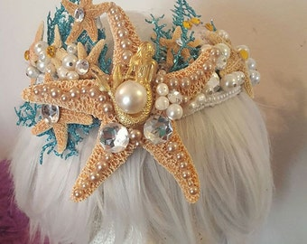 Mermaid crown, mermaid, Mermaid headband, Ariel, Under the Sea, Sea goddess, Sea, Beach, Nautical, Ocean