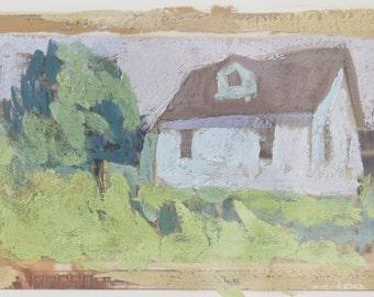 house that jack built- original painting / landscape painting
