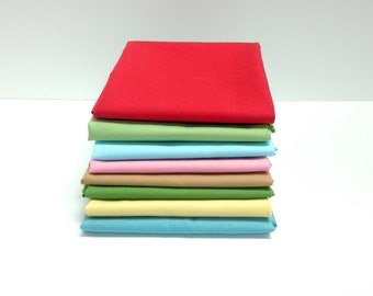 Sale!  Sweetie Pie Sew Along Solids - 1/2 yd bundle (8 pieces)