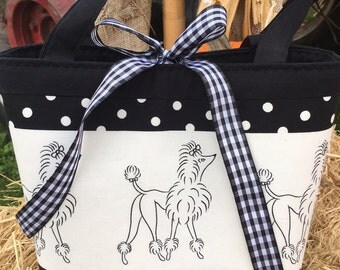 Black and White Poodle Purse