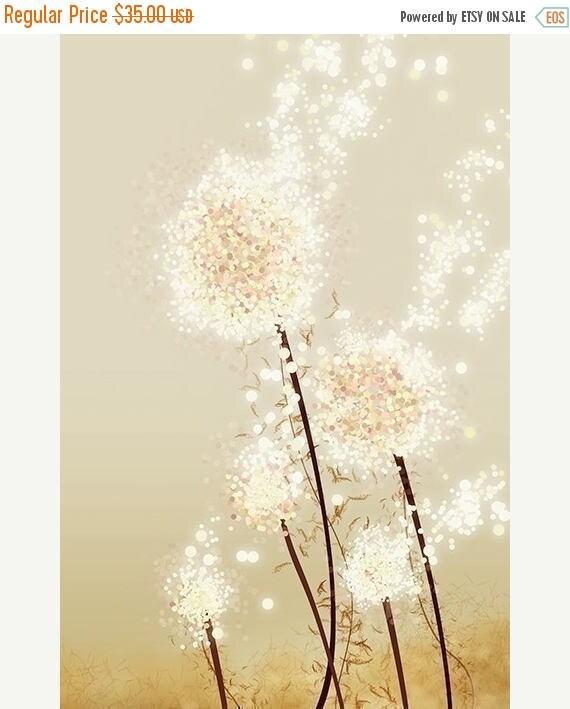 Mothers Day Sale Perennial Moment (gold) - 12x18 Art Print - Dandelion Art