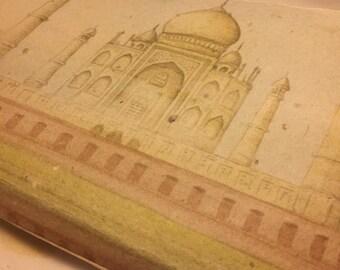 Taj Mahal ~ Tree Free Handmade Paper Journal ~ 40 pages ~ Unlined