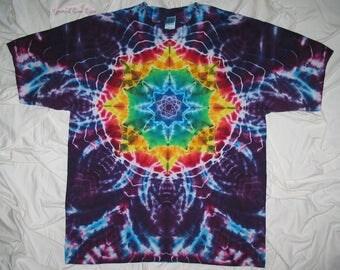 tye dye shirt, 2xl tie dye mandala, tie dye shirt by grateful dan dyes, hippie clothes, festival clothing, tie dye for men and women