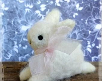 Adorable Baby Bunny Spring Needle Felted Decoration Wool Alpaca Lovinclaydolls
