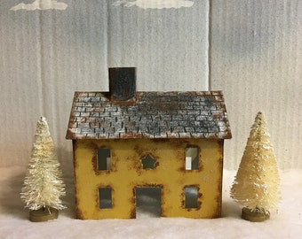 Rustic Tin House and Bottle Trees Set