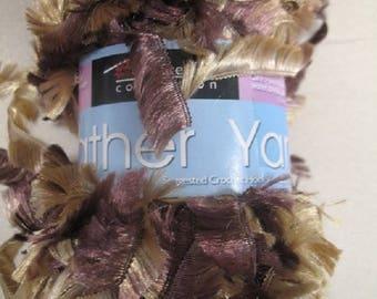 Gold Bronze Feather Yarn