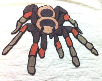 Tarantula Spider Iron on Patch or Applique  - 2 Sizes - FREE U.S. Shipping